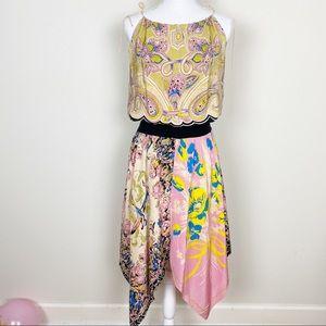 Betsey Johnson floral asymmetrical dress